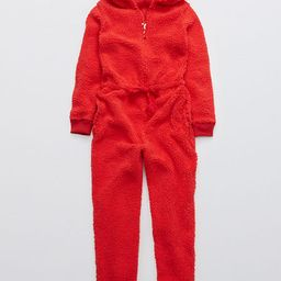 Aerie Sherpa Pajama Jumpsuit | American Eagle Outfitters (US & CA)