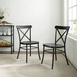 Carbon Loft Childeric Matte Black 2-piece Dining Chair | Overstock