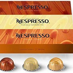 Nespresso Capsules VertuoLine, Barista Flavored Pack, Mild Roast Coffee, 30 Count Coffee Pods, Br... | Amazon (US)