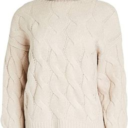 Line & Dot Women's Aimee Cable Knit Sweater   Amazon (US)
