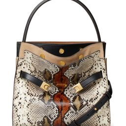 Small Lee Radziwill Snake Embossed Leather Double Bag | Nordstrom