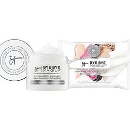 IT Cosmetics Bye Bye Makeup Balm & Wipes Hydrating Cleansing Duo | QVC