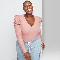 Women's Puff Long Sleeve Bodysuit - Wild Fable™   Target