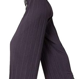 Premium Stretch Palazzo Pants for Women - High Waisted Micro Pleated - Regular and Plus Sizes   Amazon (US)