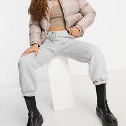 ASOS DESIGN Petite oversized sweatpants in gray marl   ASOS (Global)