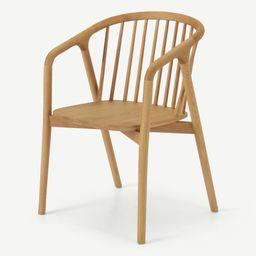 Tacoma Carver Dining Chair, Oak | MADE.COM (UK)