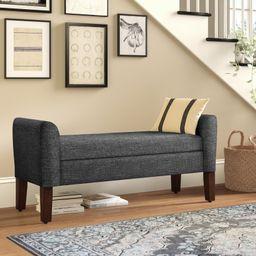 Michigan Upholstered Storage Bench   Wayfair North America