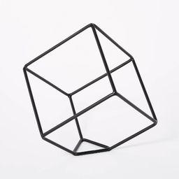 "10.6"" x 11.5"" Decorative Metal Cube Black - Threshold™ | Target"