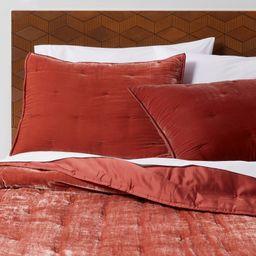 King Velvet Tufted Stitch Quilt Bronze - Opalhouse   Target