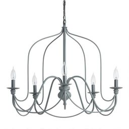 Antique Gray Rustic Wire 5 Light Chandelier | World Market
