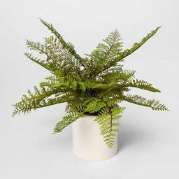 "15"" x 14.5"" Artificial Fern Arrangement in Ceramic Pot White - Threshold™   Target"