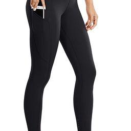 CRZ YOGA Women's High Waisted Yoga Pants with Pockets Naked Feeling Workout Leggings - 25 Inches | Amazon (US)