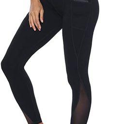 Persit Women's Mesh Yoga Pants with 2 Pockets, Non See-Through High Waist Tummy Control 4 Way Str... | Amazon (US)