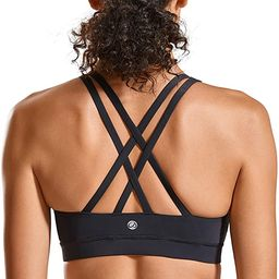 CRZ YOGA Strappy Yoga Bra for Women Fitness Workout Sports Bra | Amazon (US)