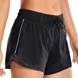 CRZ YOGA Quick-Dry Loose Running Shorts Women Sports Workout Shorts Gym Athletic Shorts with Pock... | Amazon (US)