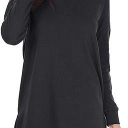 levaca Women's Fall Long Sleeve Side Split Loose Casual Pullover Tunic Tops | Amazon (US)