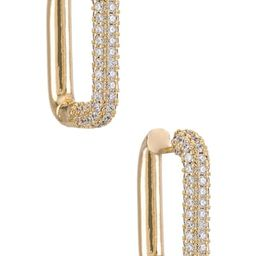 SHASHI Cosmo Pave Hoop in Gold from Revolve.com | Revolve Clothing (Global)