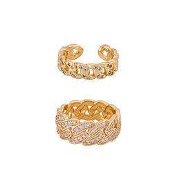 Ettika Embellished Ring Set in Gold from Revolve.com | Revolve Clothing (Global)