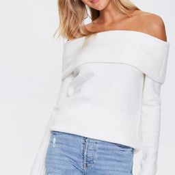 Off-the-Shoulder Ribbed Trim Sweater | Forever 21 (US)