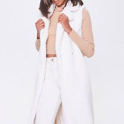 Faux Shearling Duster Vest | Forever 21 (US)