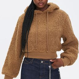 Plush Faux Shearling Hoodie | Forever 21 (US)