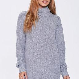 Ribbed Turtleneck Sweater Dress | Forever 21 (US)