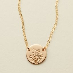 Wild Blooms Mini Zola Disc Necklace | Made by Mary (US)