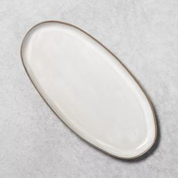 Stoneware Reactive Glaze Oval Serve Tray - Hearth & Hand™ with Magnolia | Target