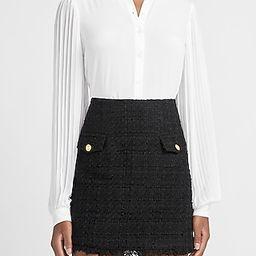 High Waisted A-Line Tweed Mini Skirt | Express