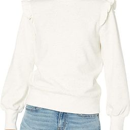 Amazon Brand - Goodthreads Women's Heritage Fleece Long Sleeve Ruffle Shoulder Sweatshirt   Amazon (US)