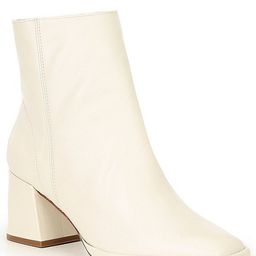 Mariane Leather Block Heel Booties | Dillards