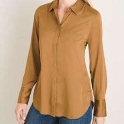 Satin Double-Button Cuff Shirt   Chico's