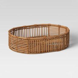 "13"" x 4.5"" Rattan Tray Basket Natural - Opalhouse™ | Target"