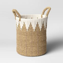 """11"""" x 15"""" Braided Basket with Rope White/Natural - Opalhouse™ 