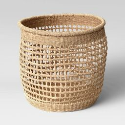 """15"""" x 13"""" Decorative Woven Seagrass Basket Natural - Threshold™ 