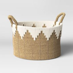 """15"""" x 11"""" Braided Basket with Rope Natural/White - Opalhouse™ 