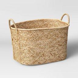 Braided Straw Basket Natural - Threshold™ | Target