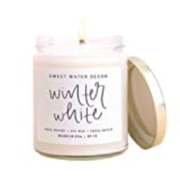 Sweet Water Decor Winter White Candle | Pine, Eucalyptus, and Cedar Seasonal Scented Soy Wax Candle  | Amazon (US)