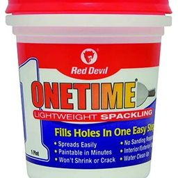 Red Devil 0548 ONETIME Lightweight Spackling, 1 Pint, Pack of 1, White | Amazon (US)