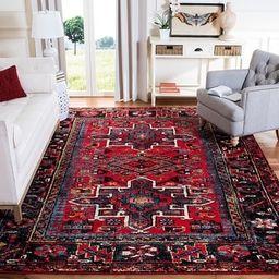 "Safavieh Vintage Hamadan Jaroslava Oriental Rug (10'6"" x 14' - Red/Multi) | Overstock"