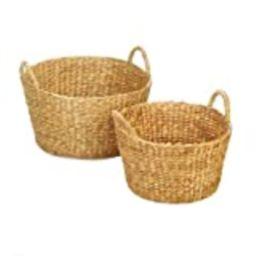 Accent Plus 10018774 Round Wicker Basket Duo Set, Brown | Amazon (US)