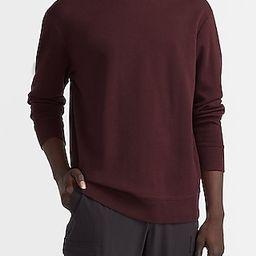 Solid Knit Crew Neck Sweatshirt   Express
