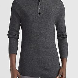 Solid Stretch Henley Sweater   Express