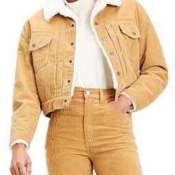 New Heritage Faux Fur Lined Cord Trucker Jacket   Bloomingdale's (US)