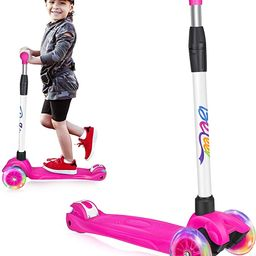 BELEEV Scooters for Kids 3 Wheel Kick Scooter for Toddlers Girls & Boys, 4 Adjustable Height, Lea... | Amazon (US)