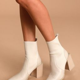 Tackle Bone Leather Pointed-Toe Sock Boots | Lulus (US)