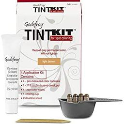 Godefroy Hair Color Kit for Spot Coloring, Covers Up Gray Hairs, Light Brown, 4-Application Kit | Amazon (US)