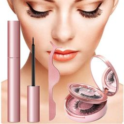 YUOIOYU Magnetic Eyeliner Eyelashes Kit Handmade Magnetic Lashes Women Eye's Makeup Lashes Set 2 Pai   Walmart (US)