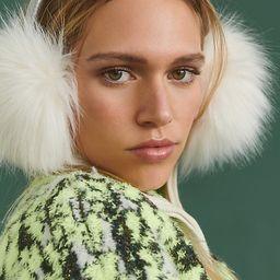 Cosetta Faux Fur Earmuffs By Anthropologie in White   Anthropologie (US)
