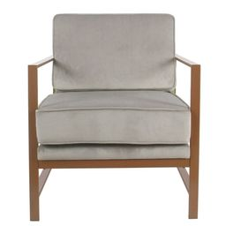 HomePop Modern Gray Velvet Accent Chair with Metal Frame (Grey) | Overstock